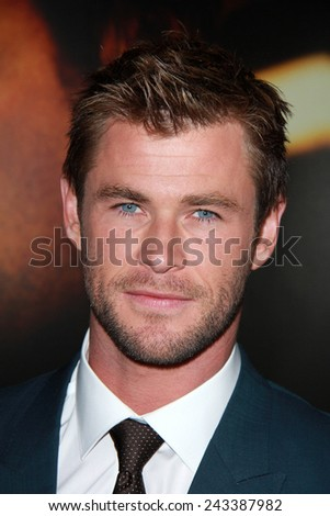 """LOS ANGELES - JAN 8:  Chris Hemsworth at the """"Blackhat&quot ; World Premiere at a TCL Chinese Theater on January 8, 2014 in Los Angeles, CA - stock photo"""