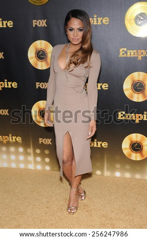 "LOS ANGELES - JAN 06:  Christina Milian arrives to the ""Empire"" Los Angeles Premiere  on January 6, 2015 in Hollywood, CA                 - stock photo"