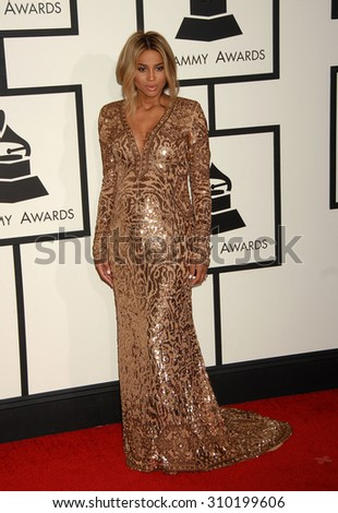 LOS ANGELES - JAN 26:  Ciara arrives at the 56th Annual Grammy Awards Arrivals  on January 26, 2014 in Los Angeles, CA                 - stock photo