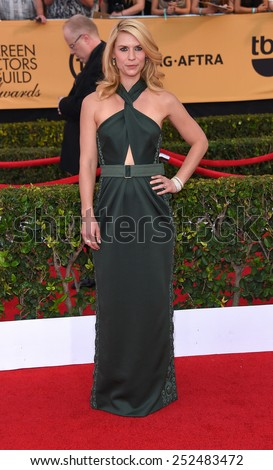 LOS ANGELES - JAN 25:  Claire Danes arrives to the 21st Annual Screen Actors Guild Awards  on January 25, 2015 in Los Angeles, CA                 - stock photo