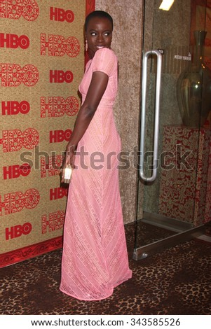 LOS ANGELES - JAN 12:  Danai Gurira at the HBO 2014 Golden Globe Party at the Beverly Hilton Hotel on January 12, 2014 in Beverly Hills, CA - stock photo