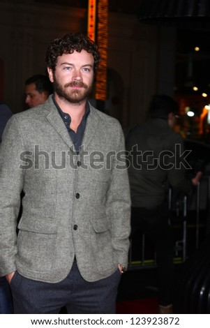 LOS ANGELES - JAN 7:  Danny Masterson arrives at the 'Gangster Squad' Premiere at Graumans Chinese Theater on January 7, 2013 in Los Angeles, CA - stock photo