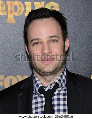 "LOS ANGELES - JAN 06:  Danny Strong arrives to the ""Empire"" Los Angeles Premiere  on January 6, 2015 in Hollywood, CA                 - stock photo"