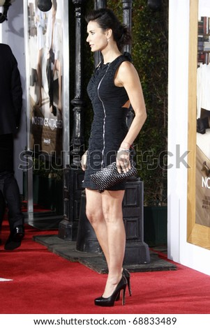 """LOS ANGELES - JAN 11:  Demi Moore arrives at the """"No Strings"""" Premiere at Regency Village Theater on January 11, 2011 in Westwood, CA - stock photo"""