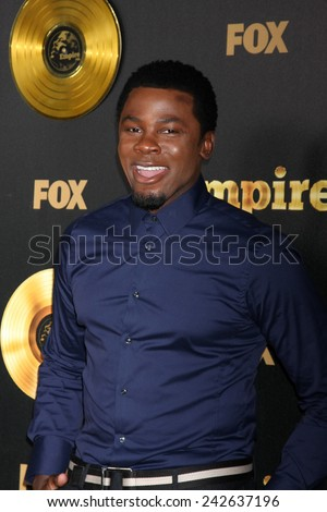 "LOS ANGELES - JAN 6:  Derek Luke at the FOX TV ""Empire"" Premiere Event at a ArcLight Cinerama Dome Theater on January 6, 2014 in Los Angeles, CA - stock photo"