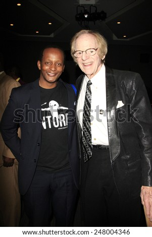 LOS ANGELES - JAN 28: Eric Kabera, Ken Kragen at the 30th Anniversary of 'We Are The World' at The GRAMMY Museum on January 28, 2015 in Los Angeles, California - stock photo