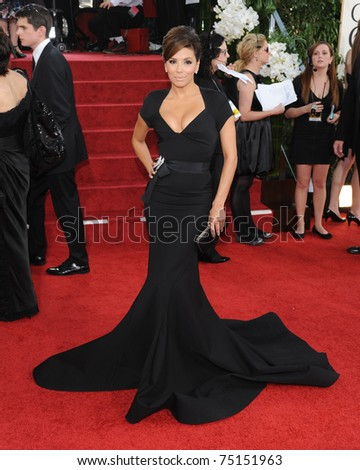 LOS ANGELES - JAN 16:  Eva Longoria arrives to the 68th Annual Golden Globe Awards  on January 16, 2011 in Beverly Hills, CA - stock photo