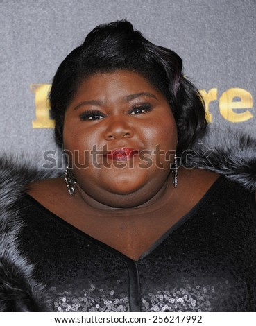 "LOS ANGELES - JAN 06:  Gabourey Sidibe arrives to the ""Empire"" Los Angeles Premiere  on January 6, 2015 in Hollywood, CA                 - stock photo"