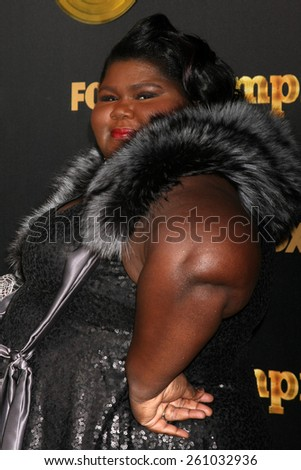 "LOS ANGELES - JAN 6:  Gabourey Sidibe at the FOX TV ""Empire"" Premiere Event at a ArcLight Cinerama Dome Theater on January 6, 2014 in Los Angeles, CA - stock photo"