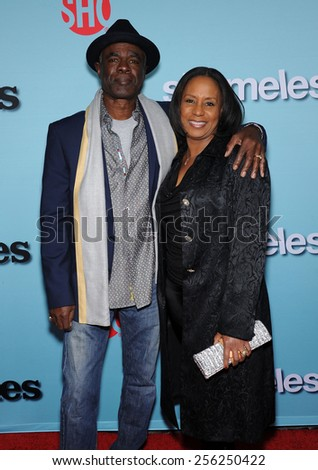 LOS ANGELES - JAN 05:  Glynn Turman & Jo-Ann Allen arrives to the Showtime celebrates all-new seasons of Shameless, House of Lies and Episodes  on January 5, 2015 in West Hollywood, CA                 - stock photo