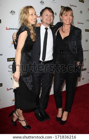 LOS ANGELES - JAN 11:  Guest, Damon Herriman, Radha Mitchell at the  2014 G'Day USA Los Angeles Black Tie Gala at JW Marriott Hotel at L.A. LIVE on January 11, 2014 in Los Angeles, CA