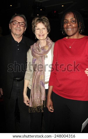 LOS ANGELES - JAN 28: Guest, Dr Tamela Hultman, Marcia Thomas at the 30th Anniversary of 'We Are The World' at The GRAMMY Museum on January 28, 2015 in Los Angeles, California - stock photo