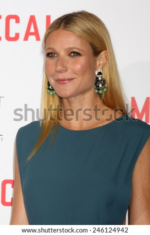 "LOS ANGELES - JAN 21:  Gwyneth Paltrow at the ""Mortdecai"" LA Premiere at a TCL Chinese Theater on January 21, 2015 in Los Angeles, CA - stock photo"