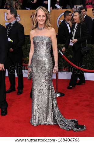 LOS ANGELES - JAN 27:  Helen Hunt  arrives to the SAG Awards 2013  on January 27, 2013 in Los Angeles, CA