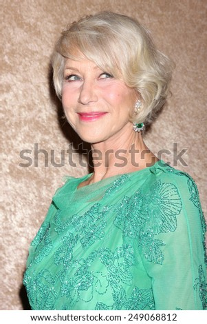 LOS ANGELES - JAN 12:  Helen Mirren at the HBO 2014 Golden Globe Party  at Beverly Hilton Hotel on January 12, 2014 in Beverly Hills, CA - stock photo