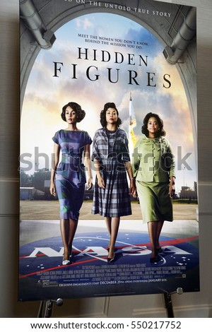 "LOS ANGELES - JAN 4:  Hidden Figures Poster at the ""Hidden Figures"" Screening and Q and A at The London on January 4, 2017 in West Hollywood, CA"