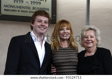 LOS ANGELES - JAN 23: Hugh Rosenberg; Marg Helgenberger and her mother at a ceremony where Marg Helgenberger is honored with a star on the Hollywood Walk of Fame on January 23, 2012 in Los Angeles, CA
