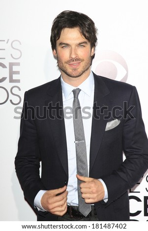 LOS ANGELES - JAN 8: Ian Somerhalder at The People's Choice Awards at the Nokia Theater L.A. Live on January 8, 2014 in Los Angeles, California - stock photo