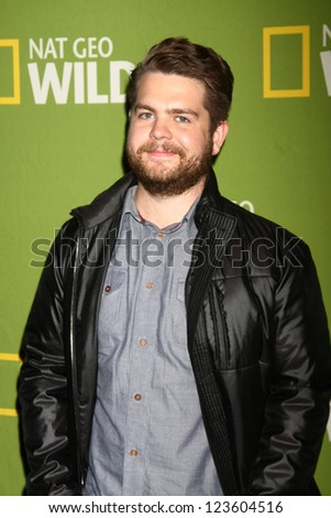 "LOS ANGELES - JAN 3:  Jack Osbourne arrives at the National Geographic Channels' ""2013 Winter TCA"" Cocktail Party. at Langham Huntington Hotel on January 3, 2013 in Pasadena, CA - stock photo"
