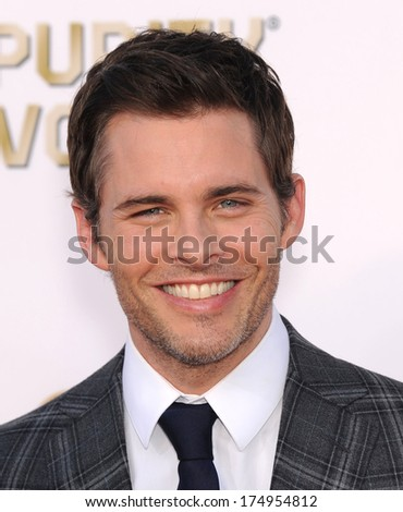 LOS ANGELES - JAN 16:  James Marsden arrives to the Critics' Choice Movie Awards 2014  on January 16, 2014 in Santa Monica, CA                 - stock photo