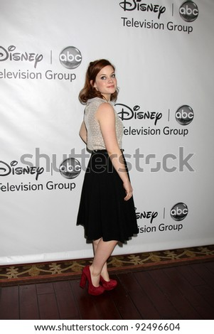 LOS ANGELES - JAN 10:  Jane Levy arrives at the ABC TCA Party Winter 2012 at Langham Huntington Hotel on January 10, 2012 in Pasadena, CA - stock photo