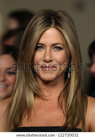 LOS ANGELES - JAN 28:  JENNIFER ANISTON arriving to Director's Guild Awards 2012  on January 28, 2012 in Hollywood, CA - stock photo
