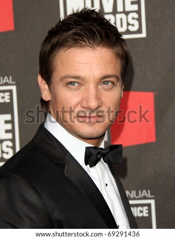 "LOS ANGELES - JAN 14:  Jeremy Renner arrives at the 16th Annual ""Critics"" Choice Movie Awards  on January 14, 2011 in Los Angeles, CA"