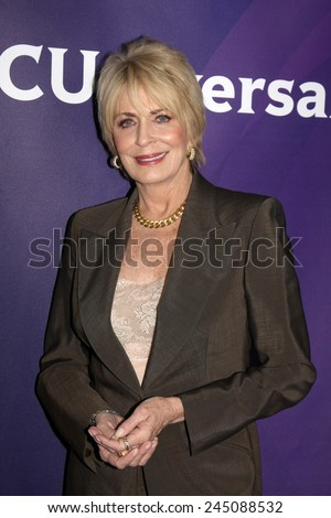 LOS ANGELES - JAN 15:  Joanna Cassidy at the NBCUniversal Cable TCA Winter 2015 at a The Langham Huntington Hotel on January 15, 2015 in Pasadena, CA - stock photo