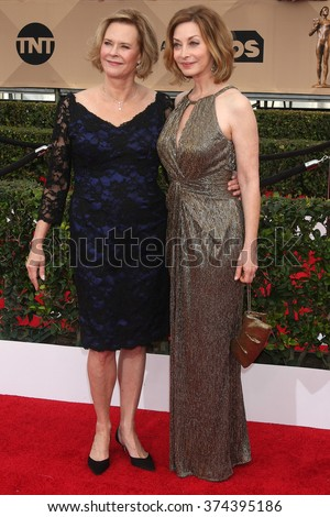 LOS ANGELES - JAN 30:  JoBeth Williams, Sharon Lawrence at the 22nd Screen Actors Guild Awards at the Shrine Auditorium on January 30, 2016 in Los Angeles, CA - stock photo