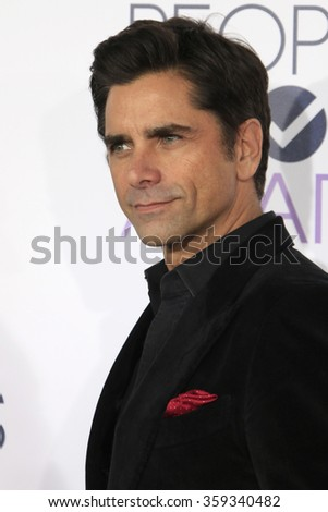 LOS ANGELES - JAN 6:  John Stamos at the Peoples Choice Awards 2016 - Arrivals at the Microsoft Theatre L.A. Live on January 6, 2016 in Los Angeles, CA - stock photo