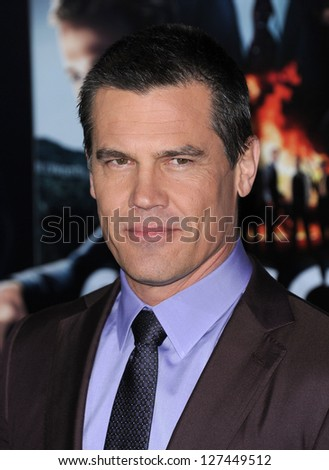 "LOS ANGELES - JAN 7:  Josh Brolin  arrives to the ""Gangster Squad"" Los Angeles Premiere  on January 07, 2013 in Hollywood, CA - stock photo"