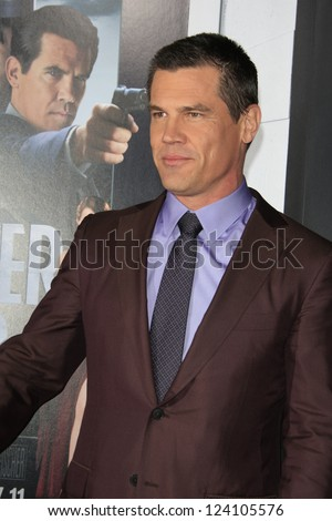 LOS ANGELES - JAN 7: Josh Brolin at Warner Bros. Pictures' 'Gangster Squad' premiere at Grauman's Chinese Theater on January 7, 2013 in Los Angeles, California - stock photo