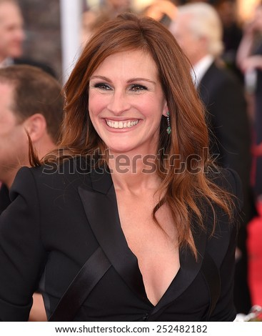 LOS ANGELES - JAN 25:  Julia Roberts arrives to the 21st Annual Screen Actors Guild Awards  on January 25, 2015 in Los Angeles, CA                 - stock photo