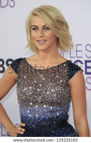LOS ANGELES - JAN 9: Julianne Hough at the 39th Annual People's Choice Awards at Nokia Theater L.A. Live on January 9, 2013 in Los Angeles, California - stock photo