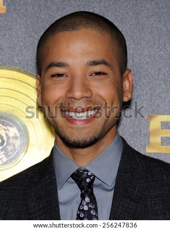 "LOS ANGELES - JAN 06:  Jussie Smollett arrives to the ""Empire"" Los Angeles Premiere  on January 6, 2015 in Hollywood, CA                 - stock photo"