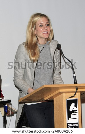 LOS ANGELES - JAN 28: Kait Stuebner at the 30th Anniversary of 'We Are The World' at The GRAMMY Museum on January 28, 2015 in Los Angeles, California - stock photo