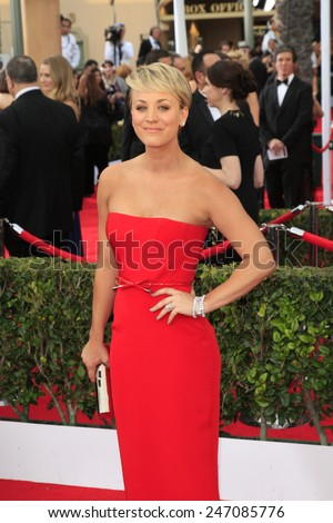 LOS ANGELES - JAN 25:  Kaley Cucoo-Sweeting at the 2015 Screen Actor Guild Awards at the Shrine Auditorium on January 25, 2015 in Los Angeles, CA - stock photo