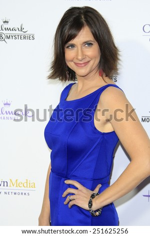 LOS ANGELES - JAN 8: Kellie Martin at the TCA Winter 2015 Event For Hallmark Channel and Hallmark Movies & Mysteries at Tournament House on January 8, 2015 in Pasadena, CA - stock photo