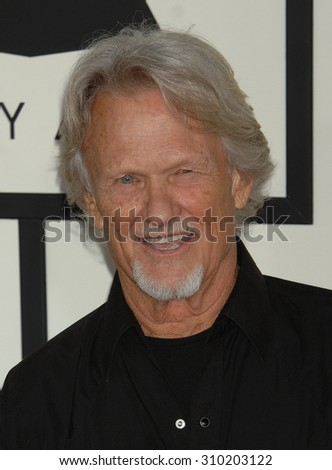 LOS ANGELES - JAN 26:  Kris Kristofferson arrives at the 56th Annual Grammy Awards Arrivals  on January 26, 2014 in Los Angeles, CA                 - stock photo