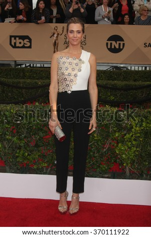 LOS ANGELES - JAN 30:  Kristen Wiig at the 22nd Screen Actors Guild Awards at the Shrine Auditorium on January 30, 2016 in Los Angeles, CA - stock photo
