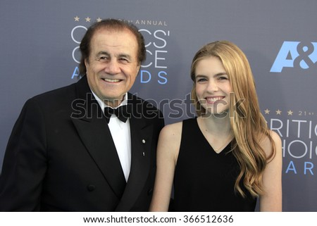 LOS ANGELES - JAN 17:  Larry A Thompson, Taylor Ann Thompson at the 21st Annual Critics Choice Awards at the Barker Hanger on January 17, 2016 in Santa Monica, CA - stock photo