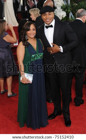 LOS ANGELES - JAN 16:  LL Cool J & Wife arrive to the 68th Annual Golden Globe Awards  on January 16, 2011 in Beverly Hills, CA