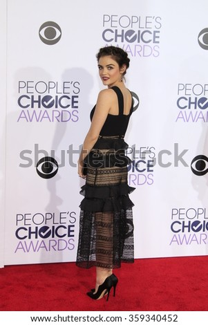 LOS ANGELES - JAN 6:  Lucy Hale at the Peoples Choice Awards 2016 - Arrivals at the Microsoft Theatre L.A. Live on January 6, 2016 in Los Angeles, CA