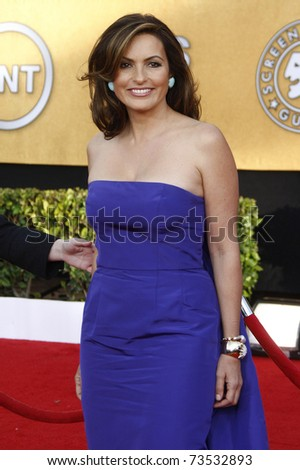 LOS ANGELES - JAN 30:  Mariska Hargitay arrives at the The 17th Annual SAG Awards in Los Angeles, California on January 3, 2011. - stock photo