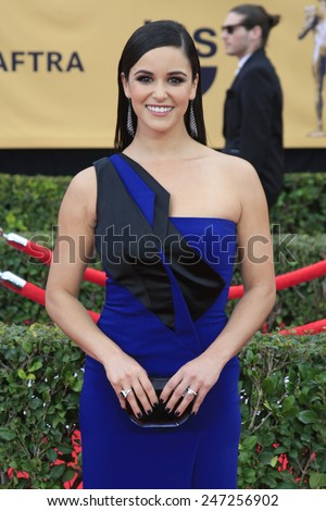 LOS ANGELES - JAN 25:  Melissa Fumero at the 2015 Screen Actor Guild Awards at the Shrine Auditorium on January 25, 2015 in Los Angeles, CA - stock photo