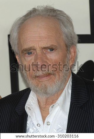 LOS ANGELES - JAN 26:  Merle Haggard arrives at the 56th Annual Grammy Awards Arrivals  on January 26, 2014 in Los Angeles, CA                 - stock photo