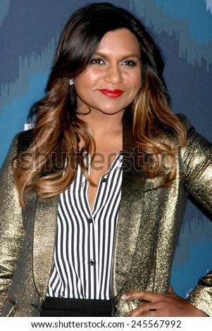 LOS ANGELES - JAN 17:  Mindy Kaling at the FOX TCA Winter 2015 at a The Langham Huntington Hotel on January 17, 2015 in Pasadena, CA - stock photo