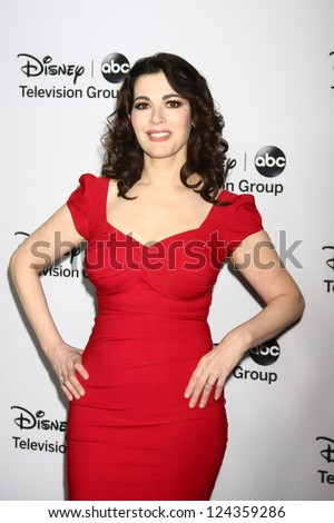 LOS ANGELES - JAN 10:  Nigella Lawson attends the ABC TCA Winter 2013 Party at Langham Huntington Hotel on January 10, 2013 in Pasadena, CA - stock photo