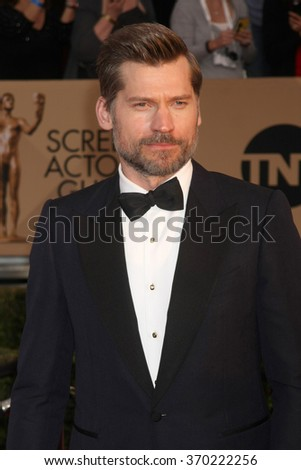 LOS ANGELES - JAN 30:  Nikolaj Coster-Waldau at the 22nd Screen Actors Guild Awards at the Shrine Auditorium on January 30, 2016 in Los Angeles, CA - stock photo