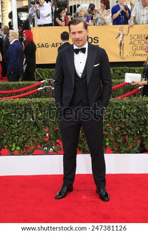 LOS ANGELES - JAN 25:  Nikolaj Coster-Waldau at the 2015 Screen Actor Guild Awards at the Shrine Auditorium on January 25, 2015 in Los Angeles, CA - stock photo